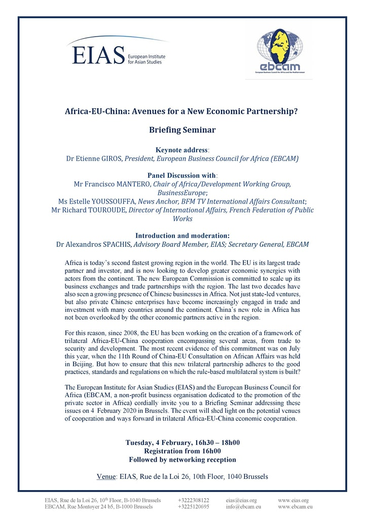 Africa-EU-China: Avenues for a New Economic Partnership? image