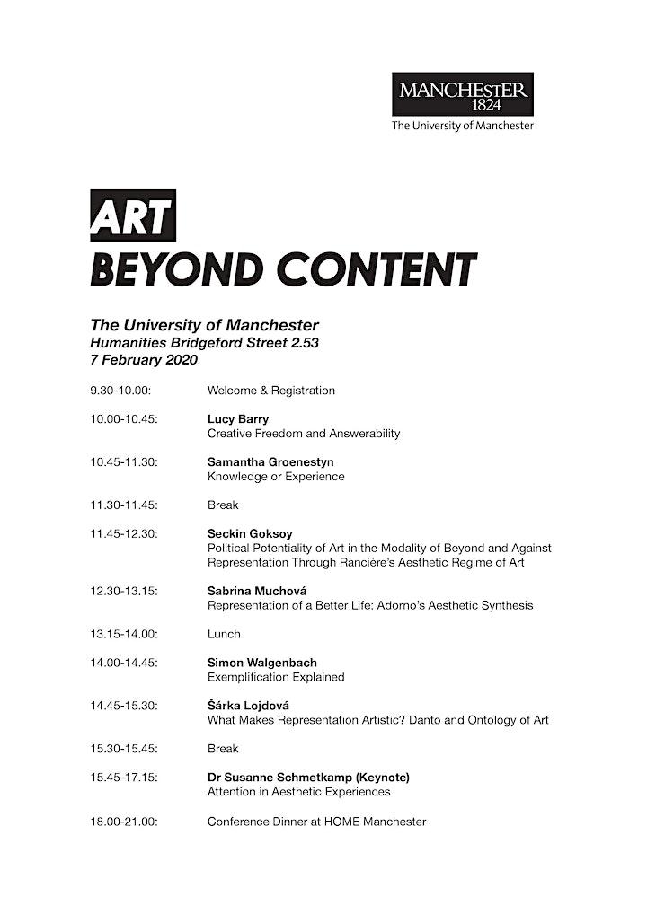 Art Beyond Content (Graduate Conference) image