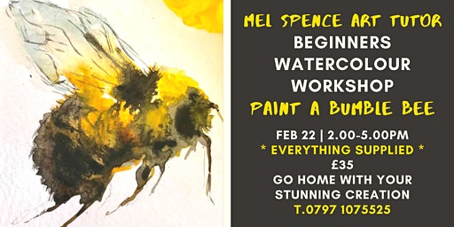Beginners Water Colour - Paint a Bumble Bee