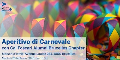 Aperitivo di Carnevale 2020 con Ca' Foscari Alumni Bruxelles Chapter billets