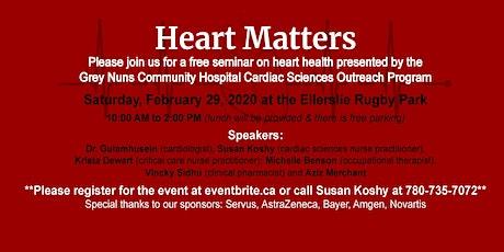 Heart Matters - Heart Health Seminar tickets