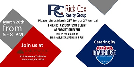 Rick Cox Realty Group Presents: 2nd Annual Client Appreciation Night Out! tickets