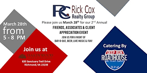 Rick Cox Realty Group Presents: 2nd Annual Client Appreciation Night Out!