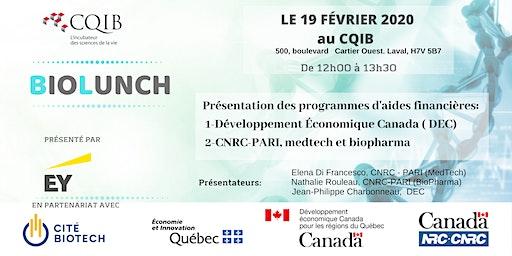 BIOLUNCH CQIB: PROGRAMMES DEC ET CNRC - PARI