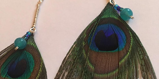 Jewellery Workshop - Peacock Feather Earrings (Craft 4 Crafters Exhibition)