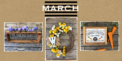 March 5th  at The Crafty Nest DIY- Whitinsville