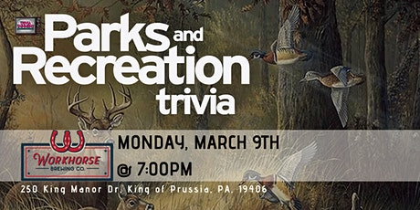 Parks & Rec Trivia at Workhorse King of Prussia tickets
