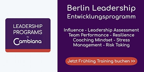 Berlin Leadership Program by Cambiana - Frühling 2020 Tickets