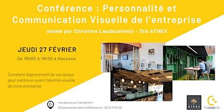 Conférence : Personnalité et Communication Visuelle de l'entreprise billets