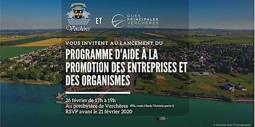 Lancement du programme d'aide à la promotion des entreprises et organismes