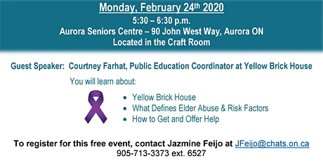 Discussion on Elder Abuse: How to Break the Silence tickets