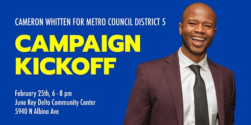 Cameron Whitten for Metro Council Campaign Kickoff