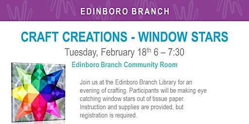 Adult Craft Creations: Window Stars (EDB)