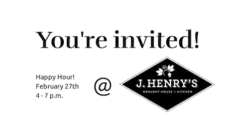 Happy Hour at J Henrys tickets