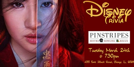 Disney Movie Trivia at Pinstripes Chicago tickets