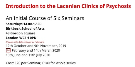Introduction to the Lacanian Clinic of Psychosis tickets