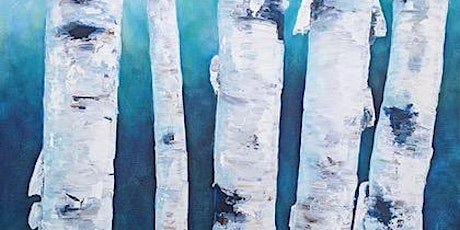 Acrylic Painting - Birch Trees with Kelly Maw tickets