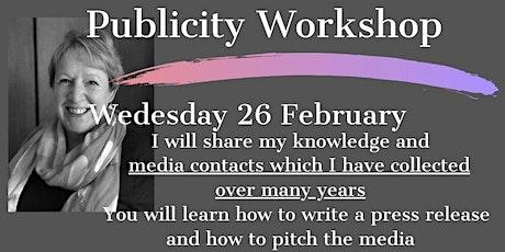Publicity Workshop tickets