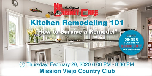 KITCHEN REMODELING 101 FREE DINNER & WORKSHOP -MISSION VIEJO COUNTRY CLUB