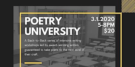 Poetry University tickets