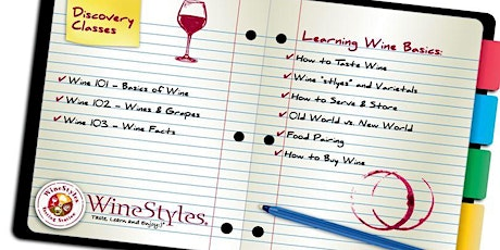 Wine 102 Discovery Class tickets
