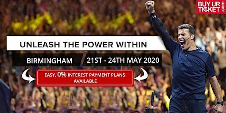 Tony Robbins UPW Birmingham 2020 - Tickets available on Easy Payment Plan tickets