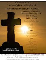 Women's Lenten Evening of: Respite*Reflection*Renewal