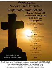Women's Lenten Evening of: Respite*Reflection*Renewal tickets