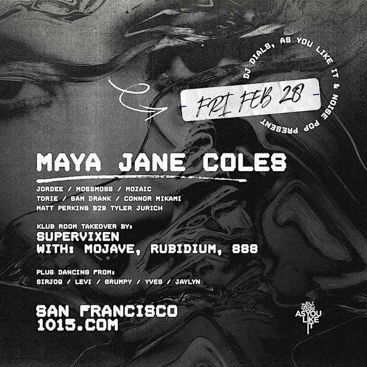 MAYA JANE COLES at 1015 FOLSOM image