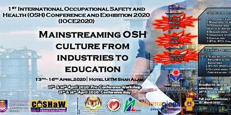 Mainstreaming OSH Culture from Industries to Educatio :1st International Oc tickets