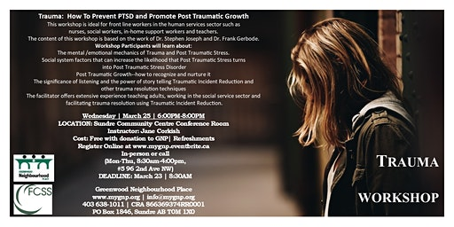 Trauma Workshop: How To Prevent PTSD & Promote Post Traumatic Growth