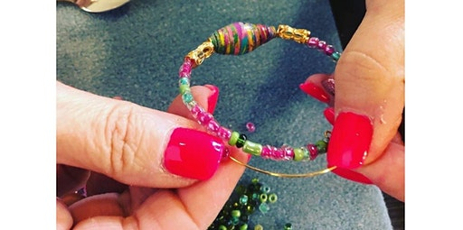 Marbled Paper Art Beads & Jewelry Making Workshop - No experience needed!  (02-23-2020 starts at 1:00 PM)