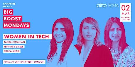 Big Boost Mondays - Women in tech tickets