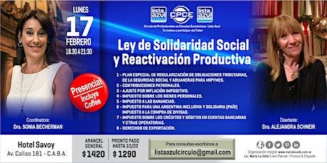LEY DE SOLIDARIDAD SOCIAL Y REACTIVACIÓN PRODUCTIVA entradas
