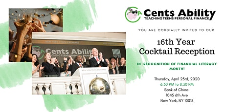 Cent Ability's 16th Year Cocktail Reception tickets