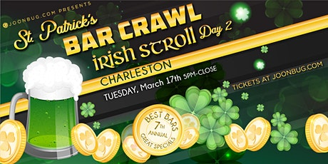Barcrawls.com Presents Charleston St. Patrick's Day Bar Crawl Day 2 tickets