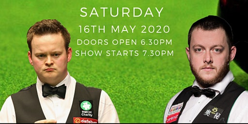 VIP Tickets Shaun Murphy & Mark Allen  Ambassadors of  the Green Baize