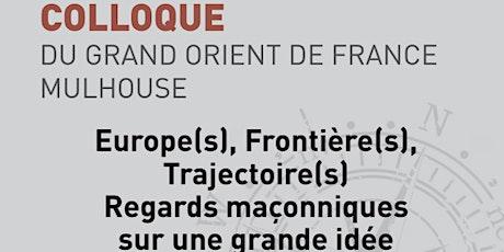 Congrès EUROPE[S], FRONTIERE[S], TRAJECTOIRE[S] billets