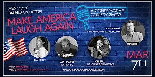 Make America Laugh Again - Dinner & Comedy Social Event in Mentone
