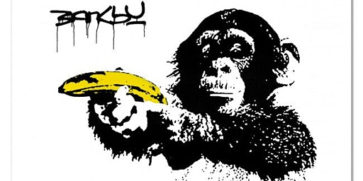 Artnight: Banksy painting @The FIZZ Co-Workers