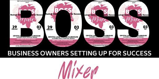 BOSS: Business Owners Setting up for Success Mixer