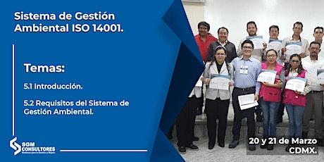 Curso Sistema de Gestión Ambiental ISO 14001 boletos