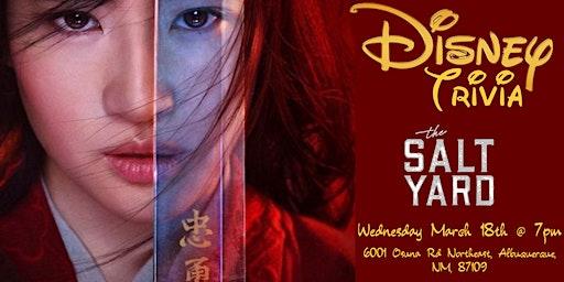 Disney Movie Trivia at The Salt Yard East