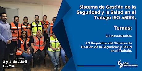 Curso Sistema de Gestión de la Seguridad y Salud en el Trabajo ISO 45001  boletos