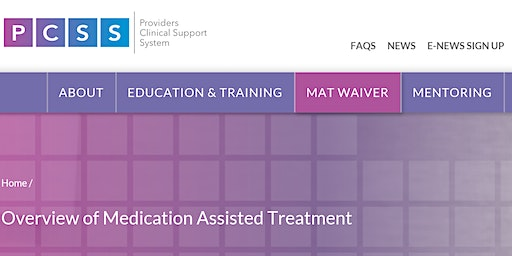 Medication Assisted Treatment (MAT) Waiver Training