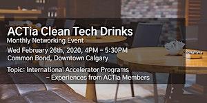 ACTia Clean Tech Drinks - Calgary Social