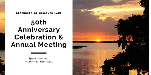 Defenders of Crooked Lake 50th Anniversary Celebration & Annual Meeting