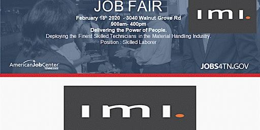 Job Fair IMI Is Hiring Skilled Laborer Event American Job Center