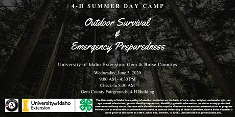 Outdoor Survival & Emergency Preparedness- 4-H Summer Day Camp tickets