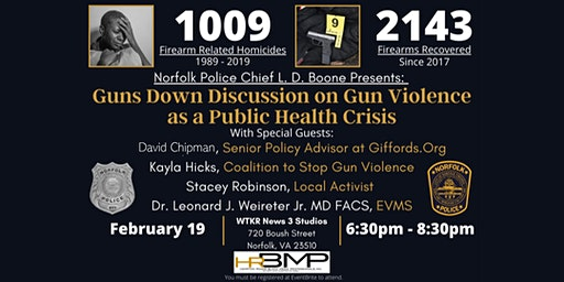 Norfolk PD Guns Down Movement Panel Discusion in Partnership with HRBMP